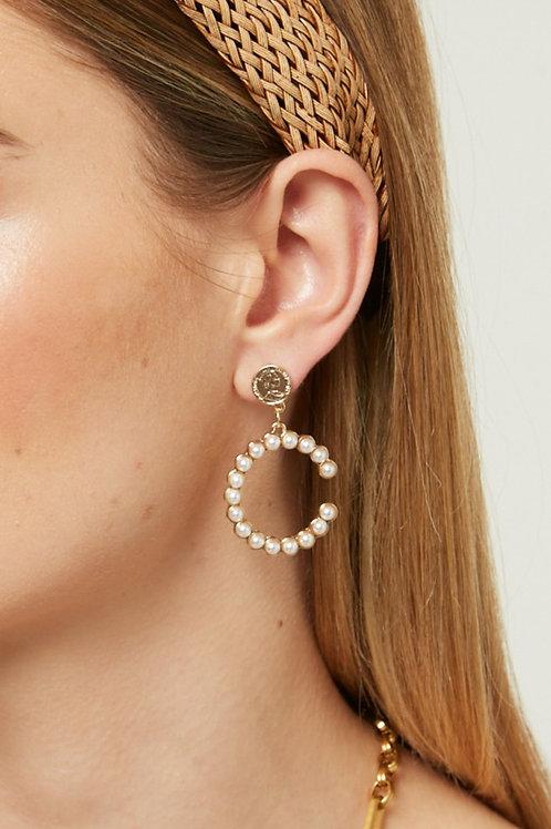 C PEARL EARRINGS