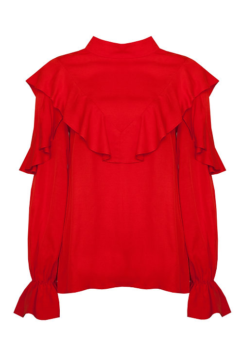 POUF TOP - RED