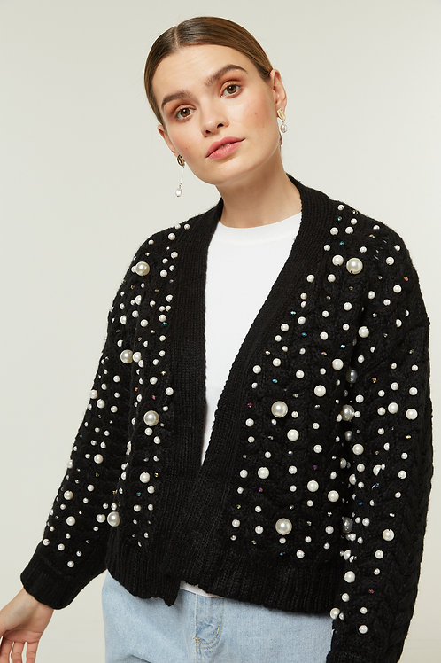 PEARLY KNIT CARDIGAN
