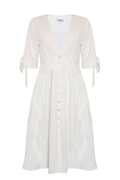 ROMINA DRESS - WHITE