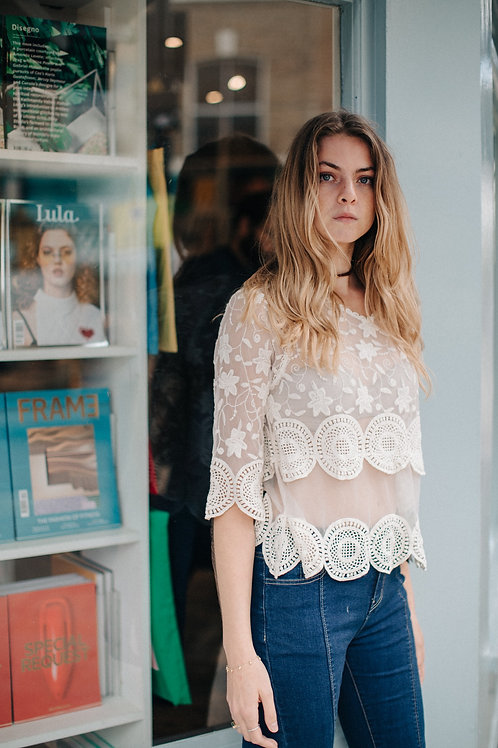 ASSO LAYERED SHEER BLOUSE