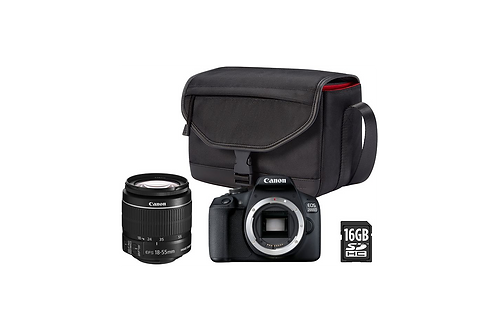 Appareil photo Reflex Canon EOS 2000D + EF-S 18-55mm + Etui + 16Go