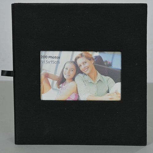 Album 200 photos 10x15 / 11x15  à pochettes et légendable. Noir