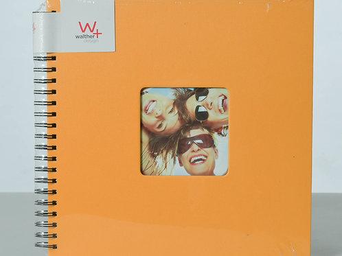 Album 50 pages noires à spirales pour environs 200 photos 10x15. Jaune