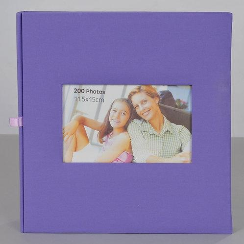 Album 200 photos 10x15 / 11x15  à pochettes et légendable. Violet