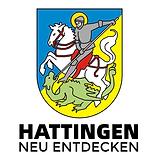 Das Bild das Wappen der Stadt Hattingen, auf dem der St. Georg zu sehen ist.