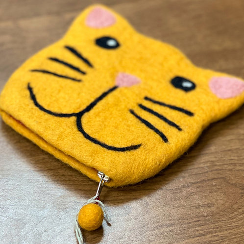 Felt Needle Case - Cat