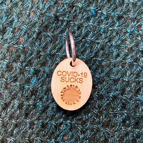 """Stitch Marker """"Covid-19 Sucks"""""""