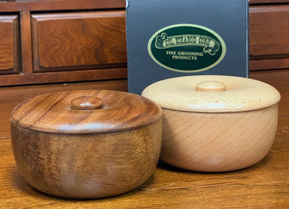 Col. Conk wooden soap bowls