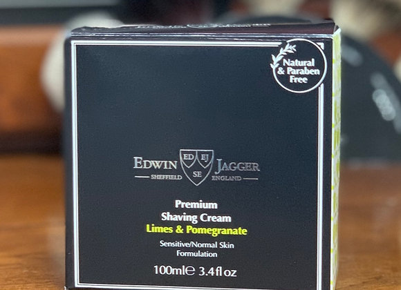 Edwin Jagger Shaving Cream - Limes & Pomegranate