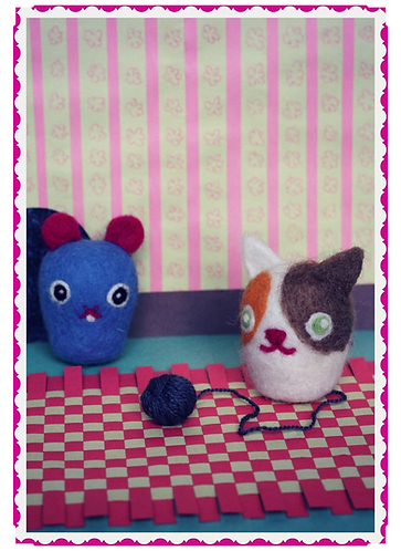 Frabjous Needle Felting Can and Mouse