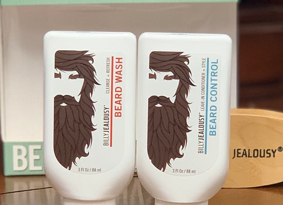 Beard Envy Kit: Wash, Conditioner, and Boar Bristle Brush