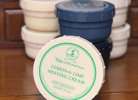Taylor of Old Bond Street Shave Cream - Lemon & Lime