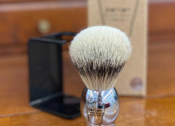 Parker - Silvertip Badger Brush w/Chrome Handle