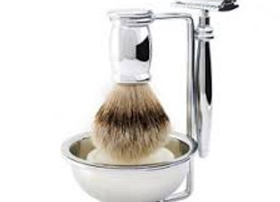 Edwin Jagger Bulbous DE Razor Super Badger 4 Piece Set