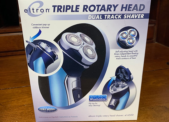 Eltron Triple Rotary Head Dual Track Electric Shaver