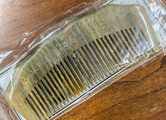 Beard Comb Horn Green Sandalwood