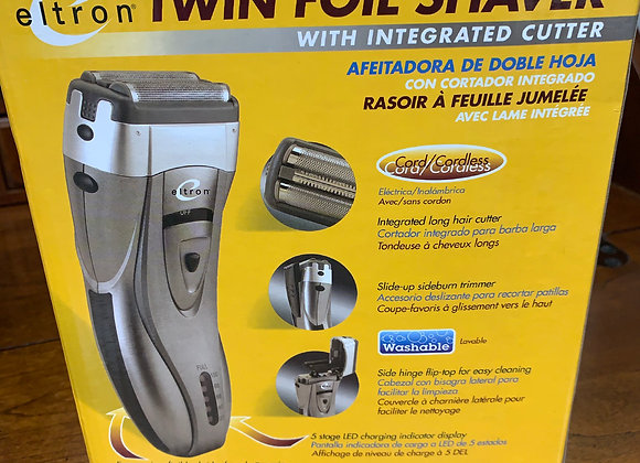 Eltron Twin Foil Shaver With Integrated Cutter