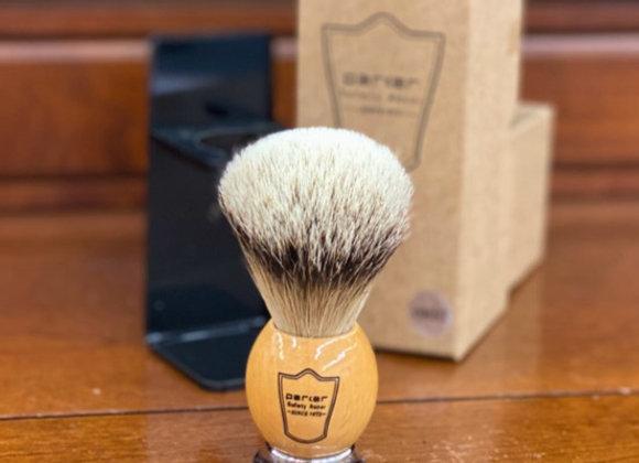 Parker - Silvertip Badger Brush w/wooden Handle