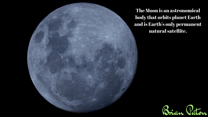 The Moon is an astronomical body that or