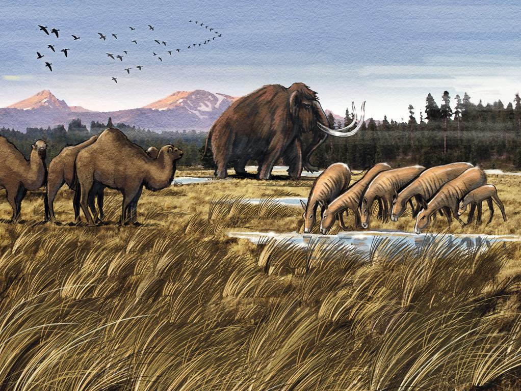 prehistoric arctic scene