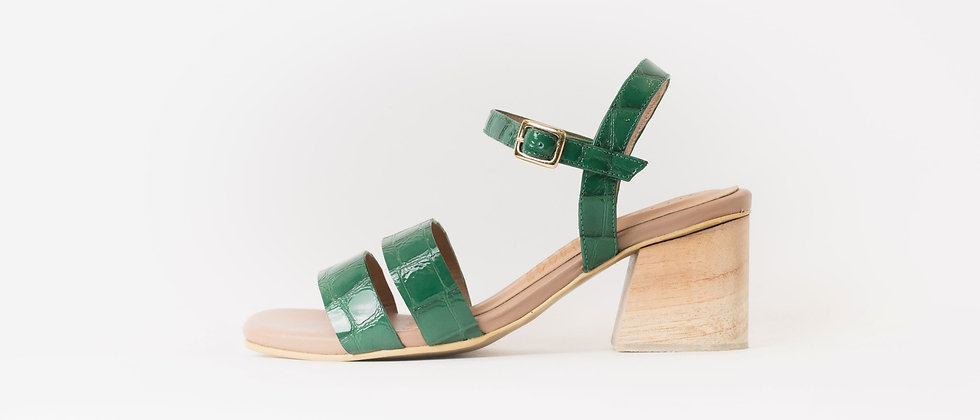 Greta croco charol verde
