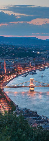 Europe-Hungary-Budapest-Gelert-Hill-View
