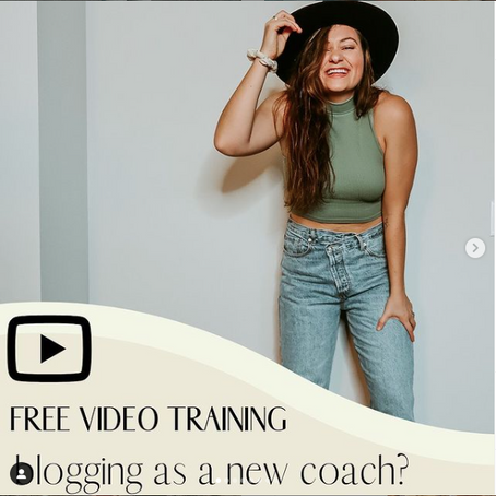 SHOULD YOU START A BLOG AS A NEW HEALTH COACH?