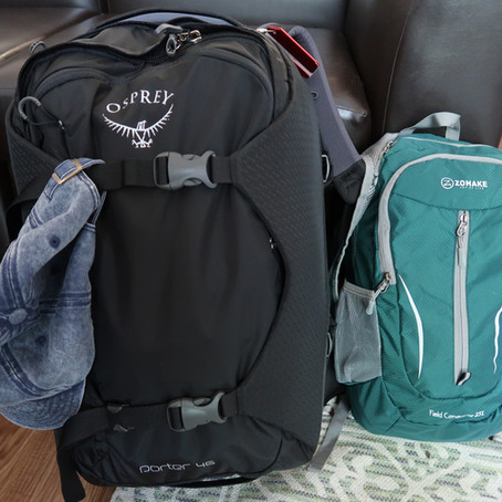 My Backpacks for Traveling Europe