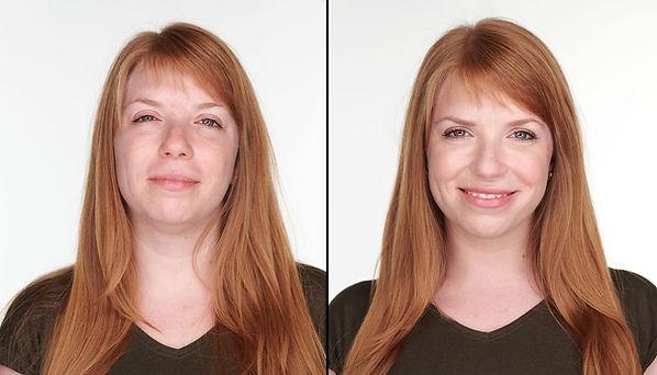 portréfotózás smink nélkül és sminkessel