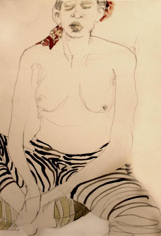 Hannah Coale Striped Pants
