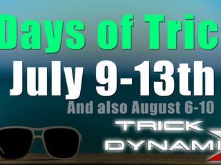5 Days of Intensive Tricking Starts Monday 6/9/18
