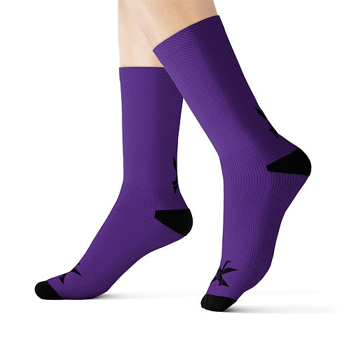 TDX Black/Purple Socks