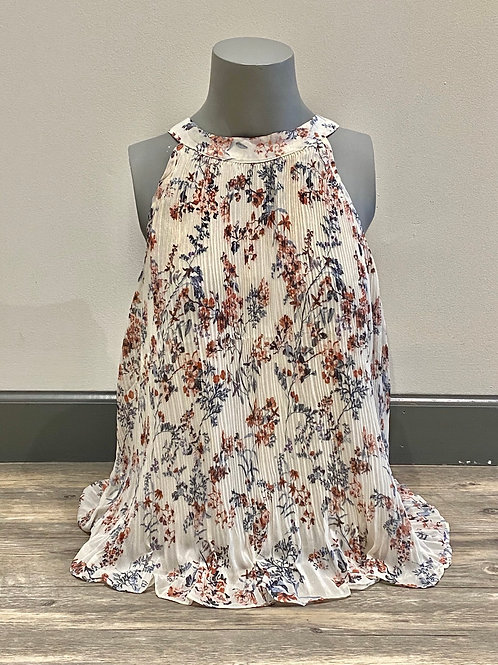 Floral Halter Pleated 18170