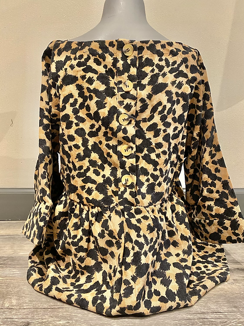 Leopard peplum THS0833