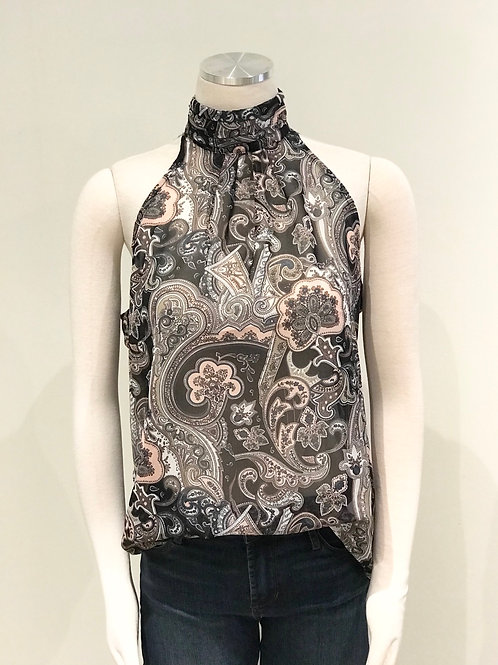 PAISLEY HIGH NECK TANK
