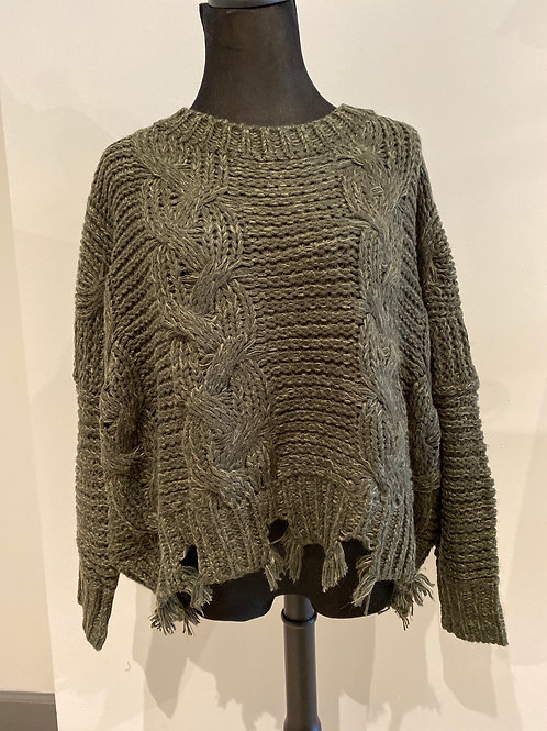 Cable sweater S18500R2
