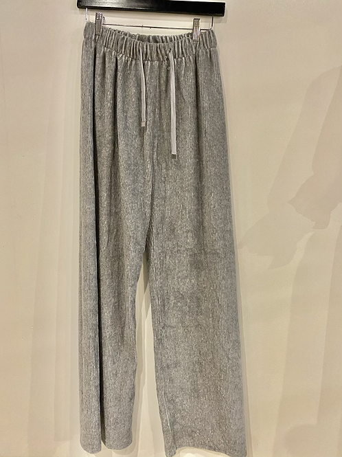 Wide leg velour sweats EB1484