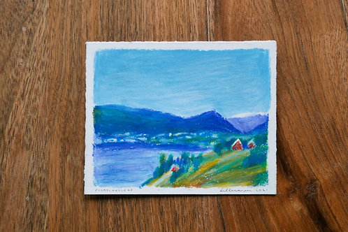 "Original Drawing ""Fjordlandskap"""