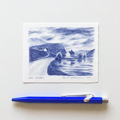 """Original drawing """"Før stormen"""""""