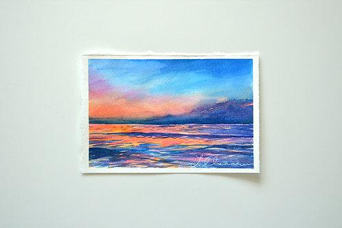 Seascape sunset No. 1 - Original painting