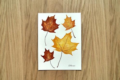 Autumn leaves - Original painting