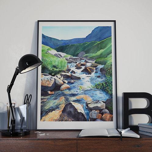 """Art poster """"Breidalen"""" A3"""