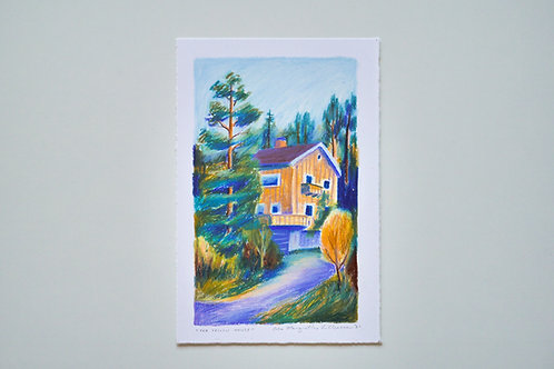 """Original drawing """"The Yellow House"""""""