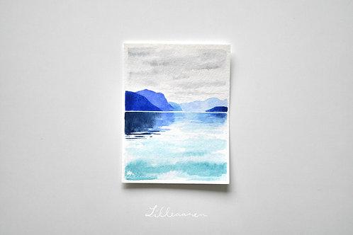 Fjord mini painting