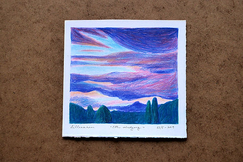 After sunset - Original drawing