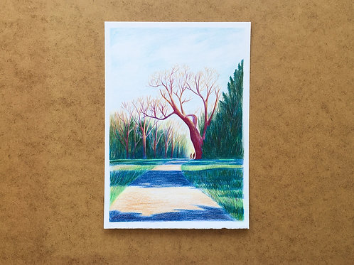 Original drawing - A walk with you
