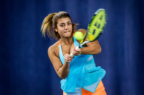 Julita Saner, lovande tennisjunior, UNT 2017.