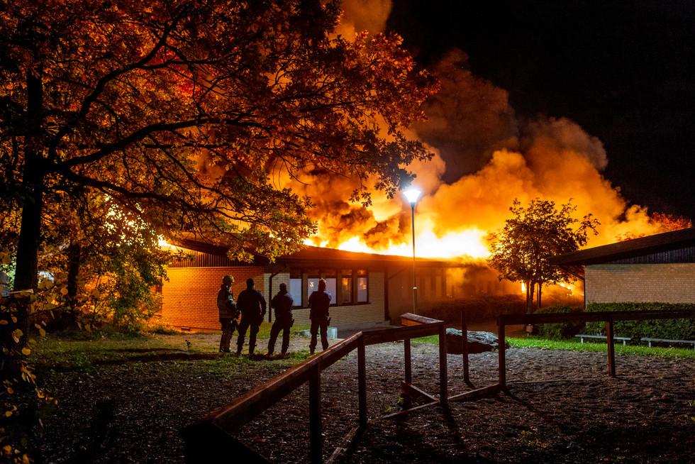 Gottsundaskolan nedbränd, TT 2019.