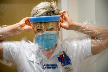 Coronaavdelning, Akademiska sjukhuset, Vårdfokus 2020.